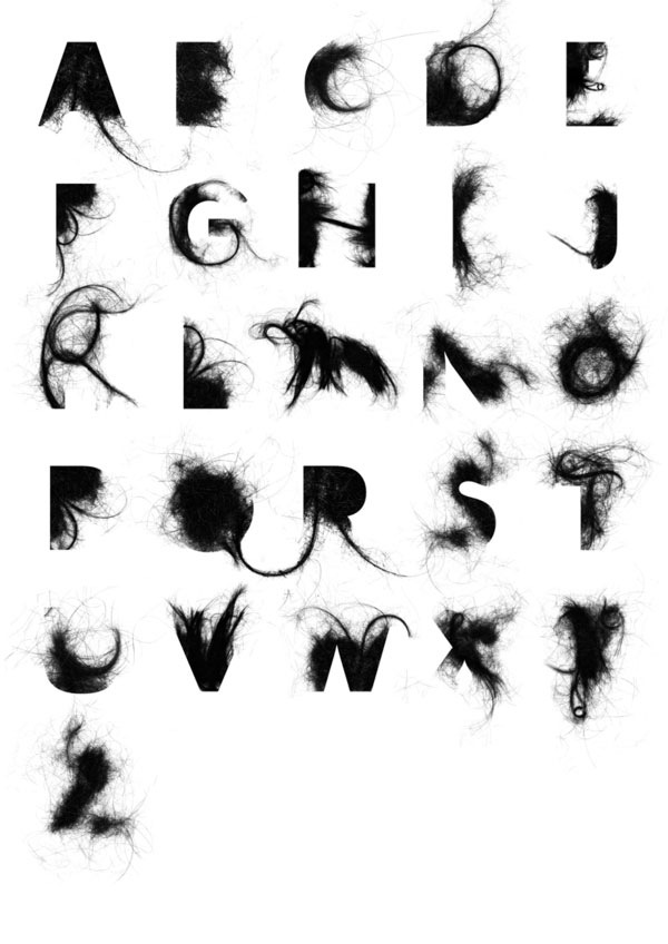 头发的字母表
