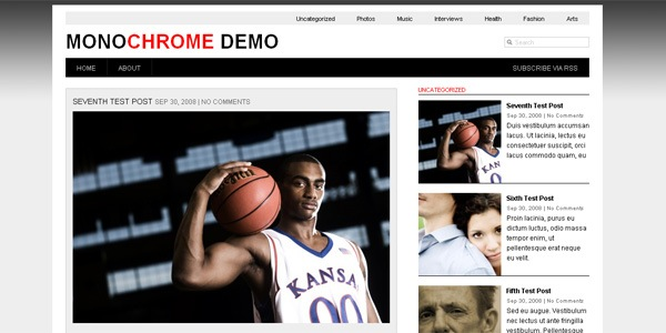 monochrome-wordpress-theme