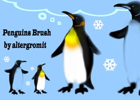 Penguins_Brush