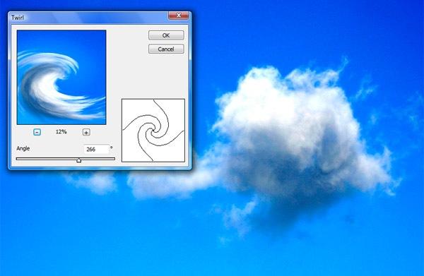 twirl-cloud ফটোশপের কারুকাজ- পর্ব ৫ (3D তে স্বপ্নের আকাশ)
