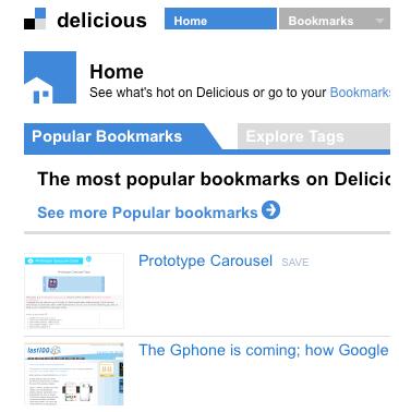 Delicious Bookmarks