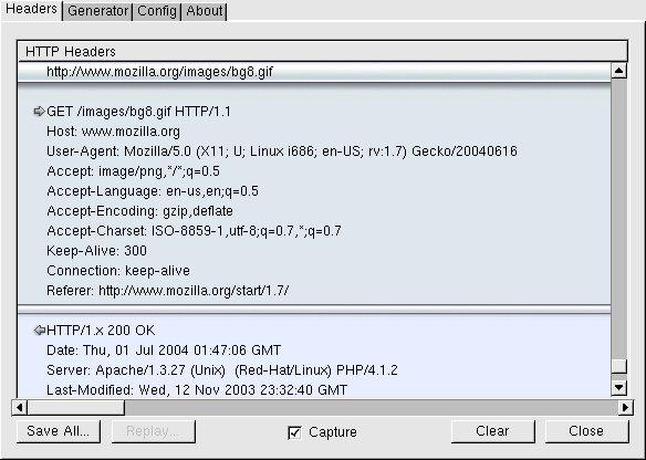 Live HTTP Headers Screenshot!