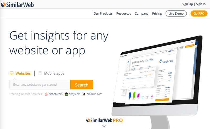 Check Website Traffic With SimilarWeb