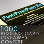 1000 Business Card Giveaway Contest from PrintPrintPrint.biz