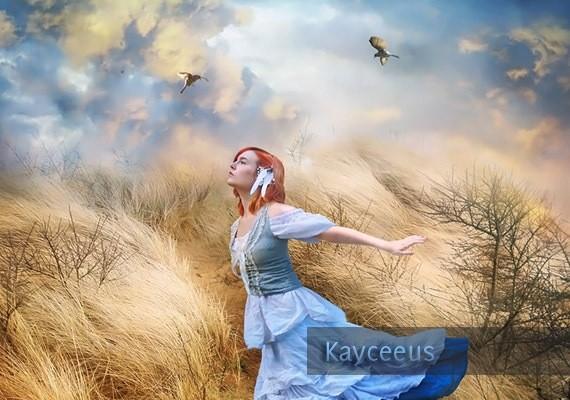 blue-lady-digital-art-kayceeus