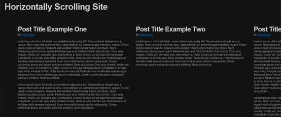 horizontally-scrolling-site