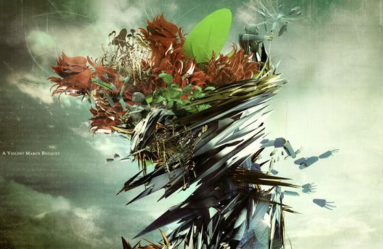 A violent march bouquet wallpaper