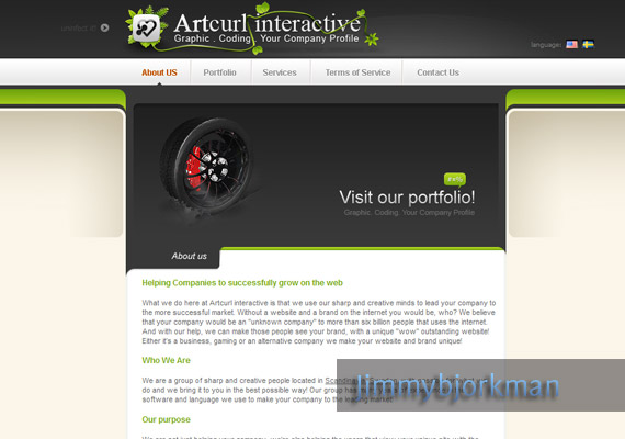 Artcurl Website Mockup inspiration
