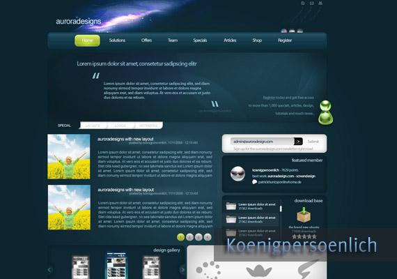 auroradesigns website-design