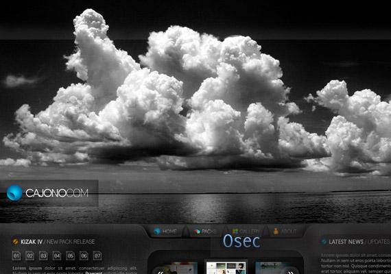 CAJONO Interface webdesign-inspiration