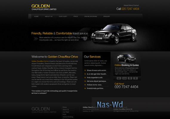 Chauffeur Service Website inspiration