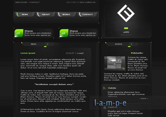der lampe website-design