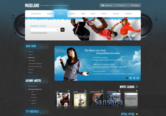 musicland-website-design