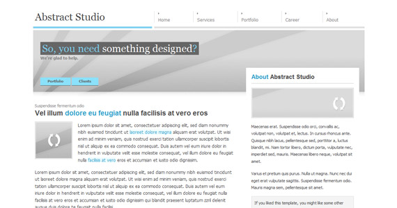 abstract-studio-xhtml-css-template