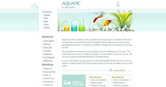 aquatic-css-xhtml-template