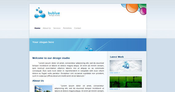 bublue-xhtml-css-template