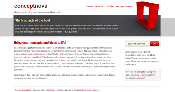 concept-nove-xhtml-css-template