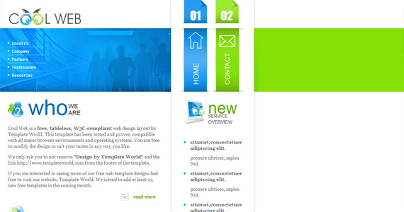 cool-web-xhtml-css-template