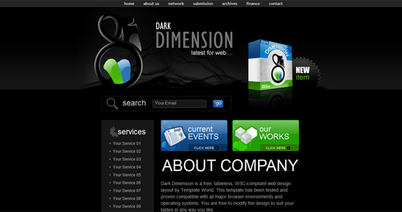 dark-dimension-css-xhtml-template