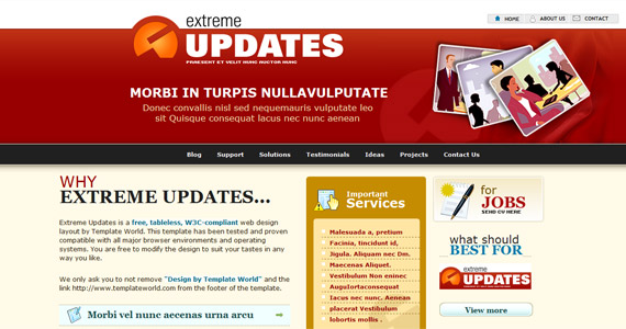 extreme-updates-xhtml-css-template