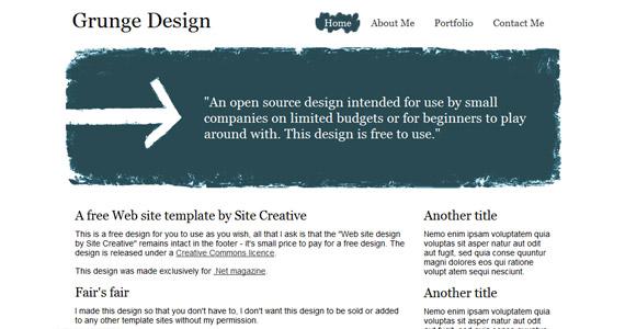 grunge-design-xhtml-css-template