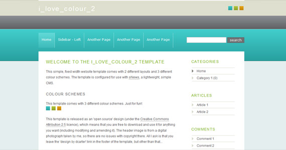 i-love-color-xhtml-css-template