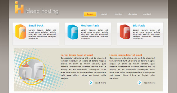 idea-hosting-xhtml-css-template
