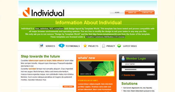 individual-xhtml-css-template