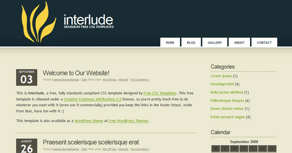 interlude-xhtml-css-template