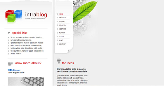 intrablog-xhtml-css-template