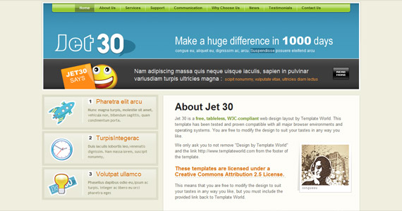 jet-30-css-xhtml-template