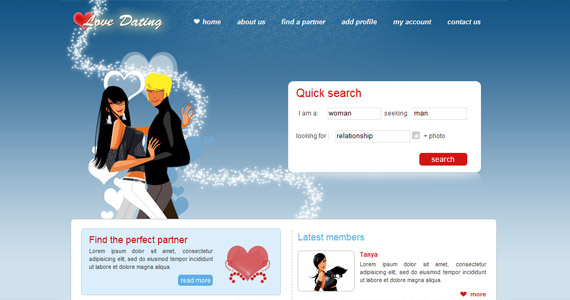 love-dating-xhtml-css-template