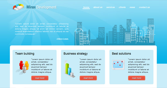 mirax-development-xhtml-css-template