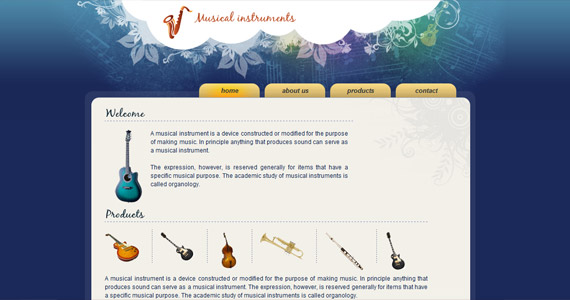 musical-instruments-xhtml-css-template