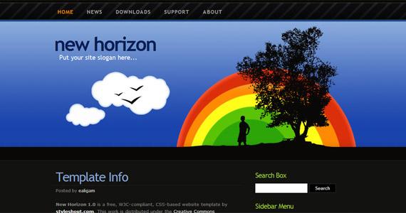 new-horizon-xhtml-css-template
