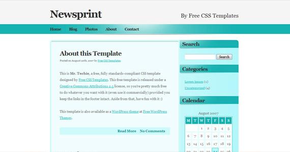 newsprint-css-xhtml-template