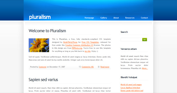 pluralism-xhtml-css-template