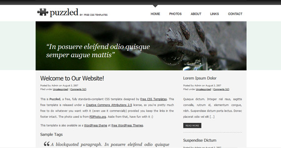 puzzled-xhtml-css-template