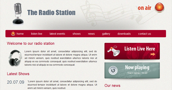 radio-station-xhtml-css-template