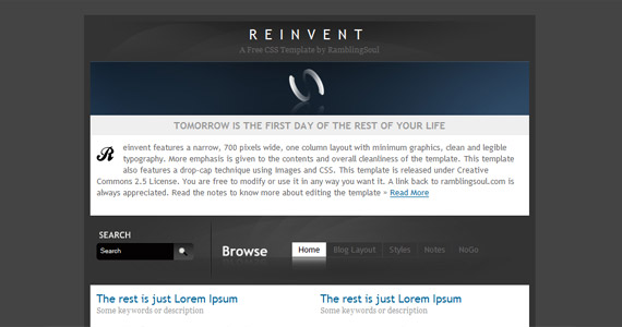 reinvent-xhtml-css-template