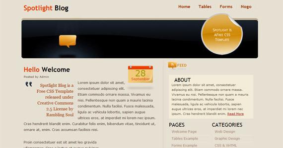 spotlight-blog-xhtml-css-template
