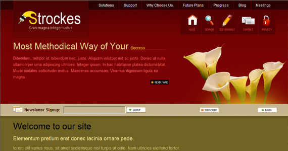 strockes-xhtml-css-template