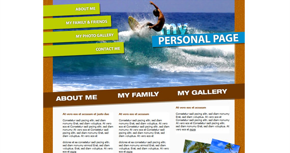 surfing-xhtml-css-template