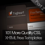 101 More Quality CSS, XHTML Free Templates: Part 2