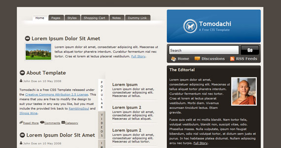 tomodachi-xhtml-css-template