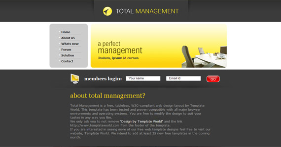 total-management-css-xhtml-template