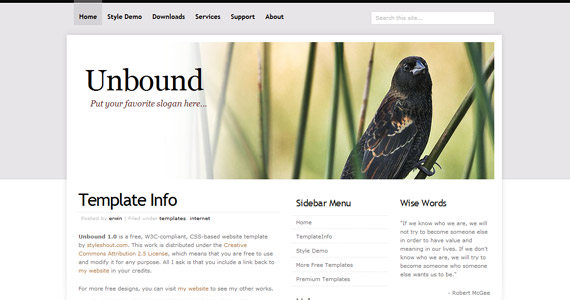 unbound-xhtml-css-template