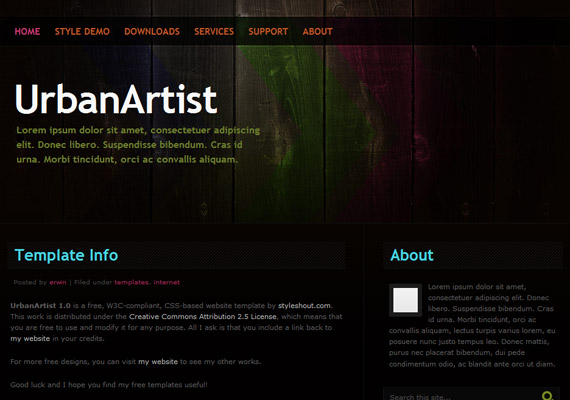 urban-artists-css-xhtml-template