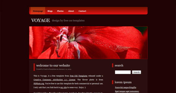 voyage-css-xhtml-template