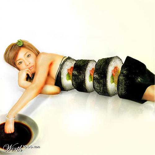 sushi-mermaid-photomanipulation